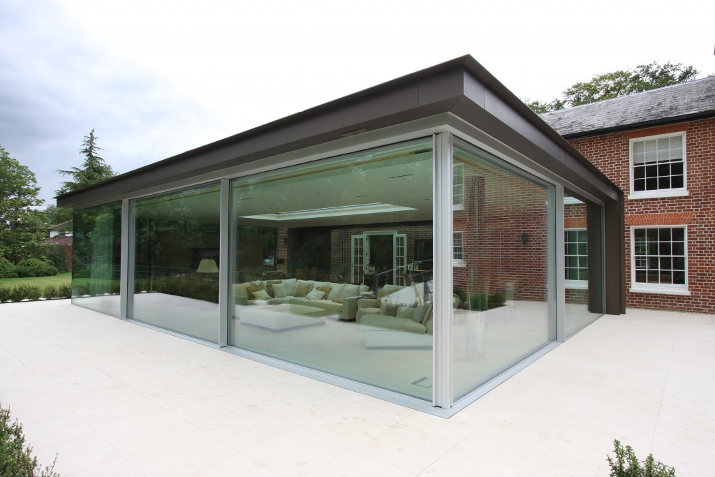 Contemporary extensions archives slim frame sliding for Triple sliding glass door
