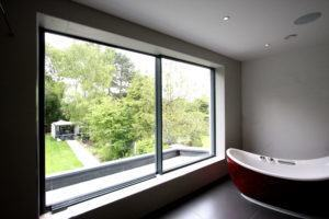 frameless juliet balcony