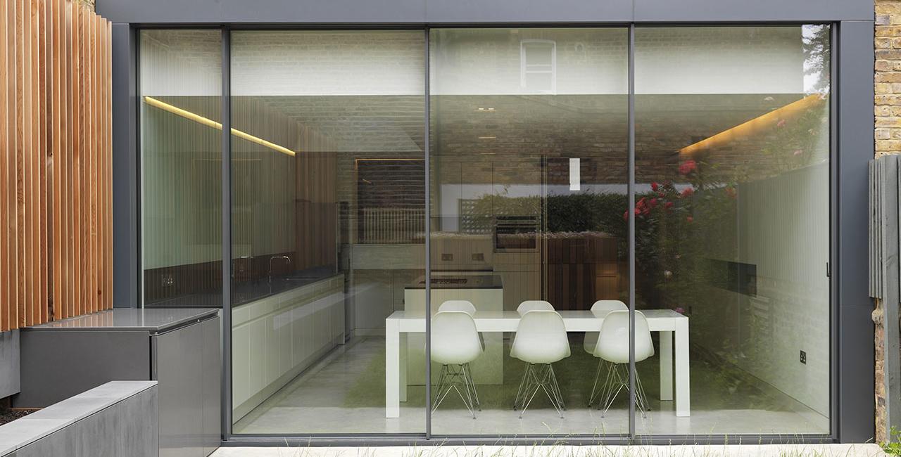 extension using sliding glass doors