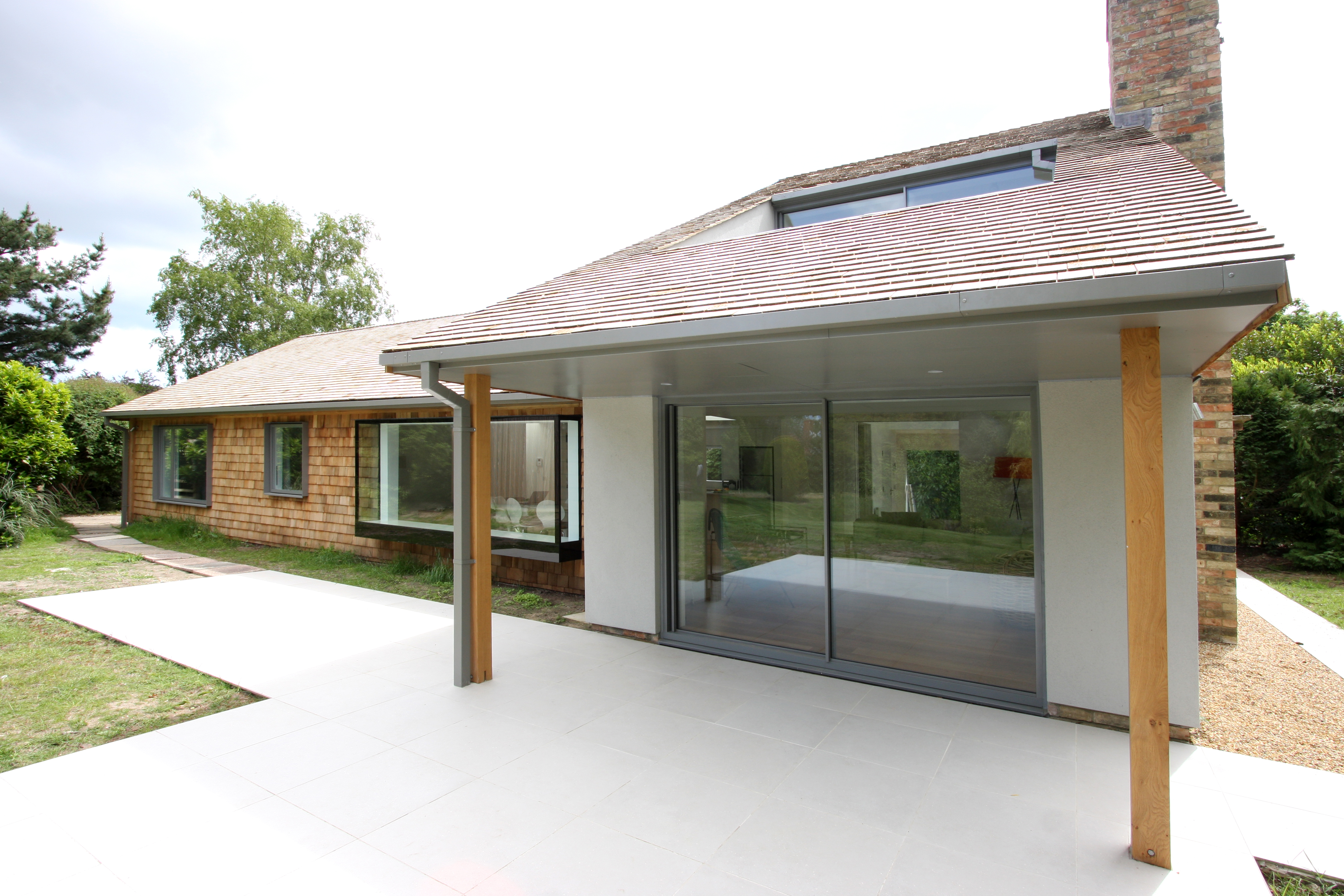 minimal windows to the ground floor of the new extension