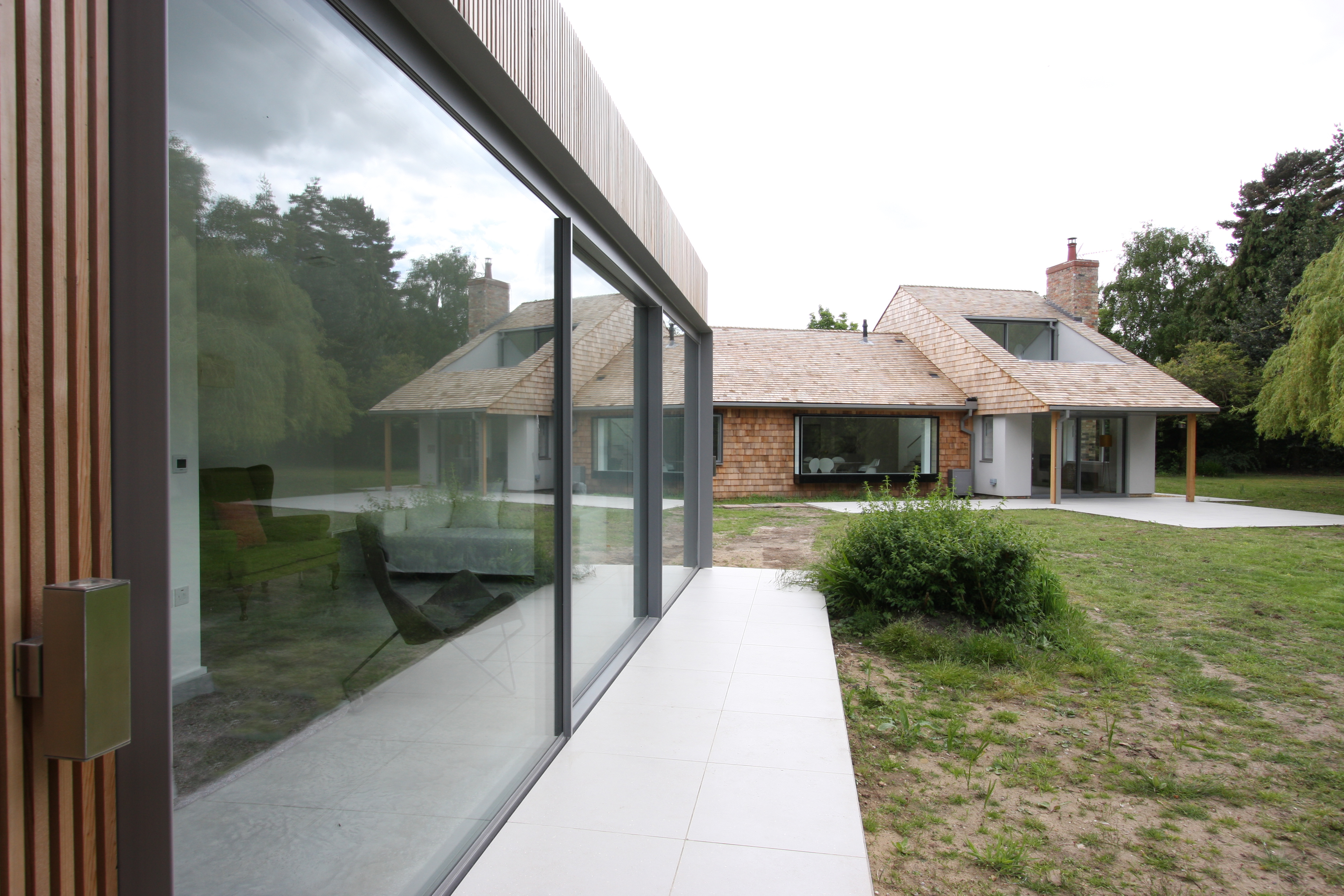 minimal windows to the front elevation of a new garden room