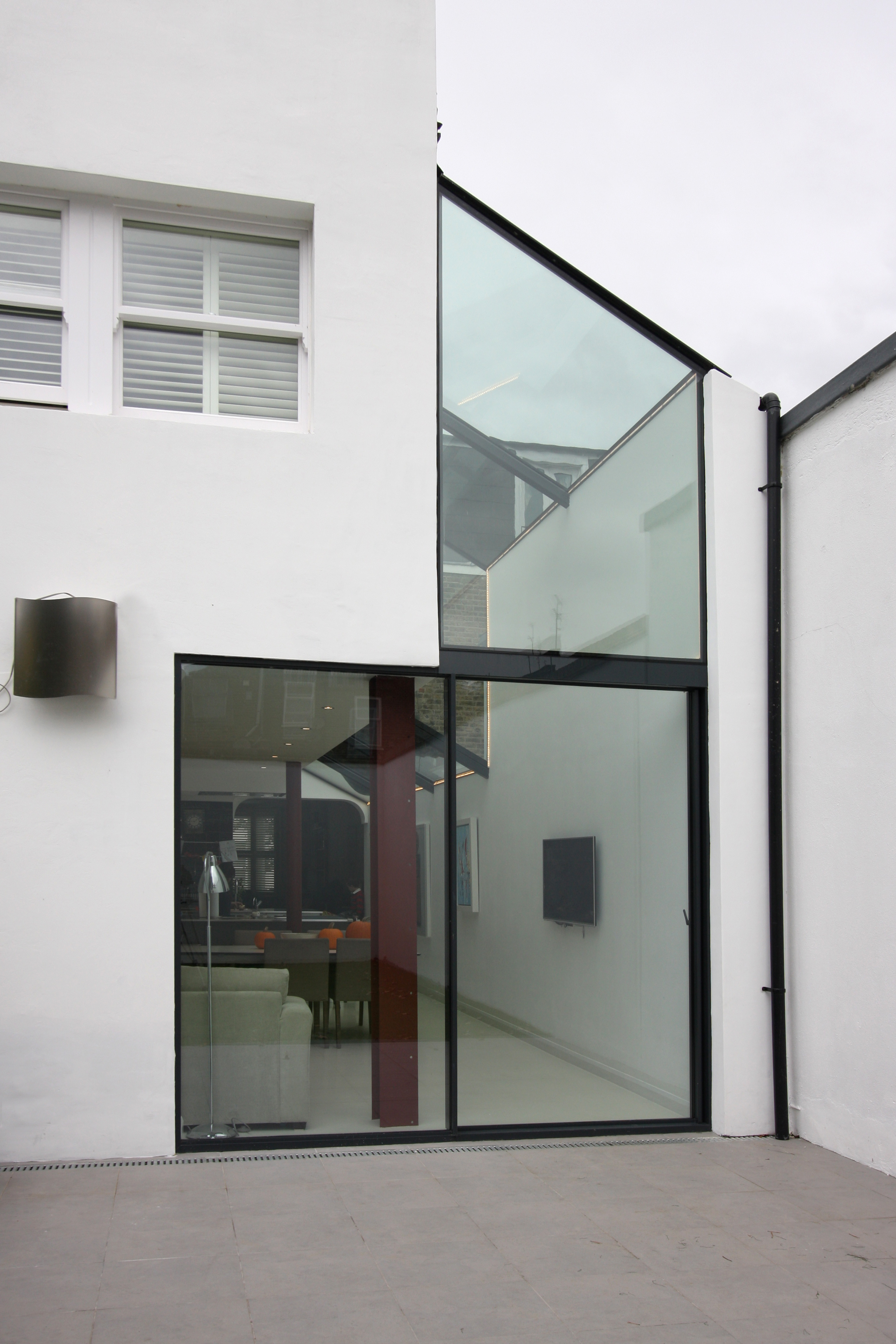 Glass Infill Photo Gallery: Create A Bright Side Infill Extension With Minimal Windows