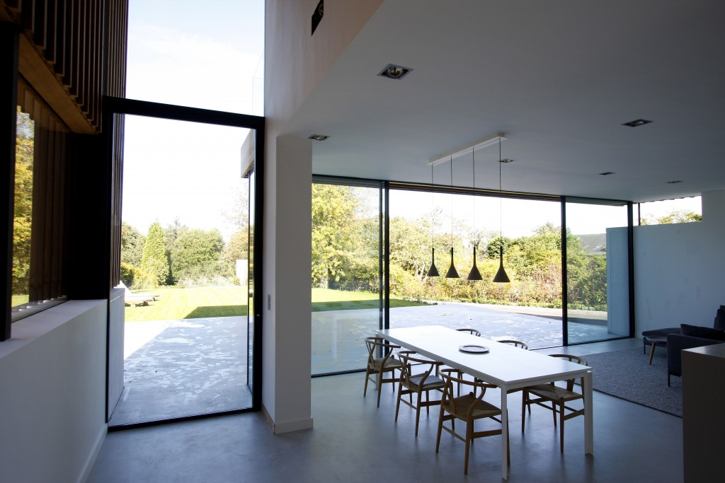 Internal view of KELLER minimal windows® Sliding Glass Doors used on the Edge Hill project