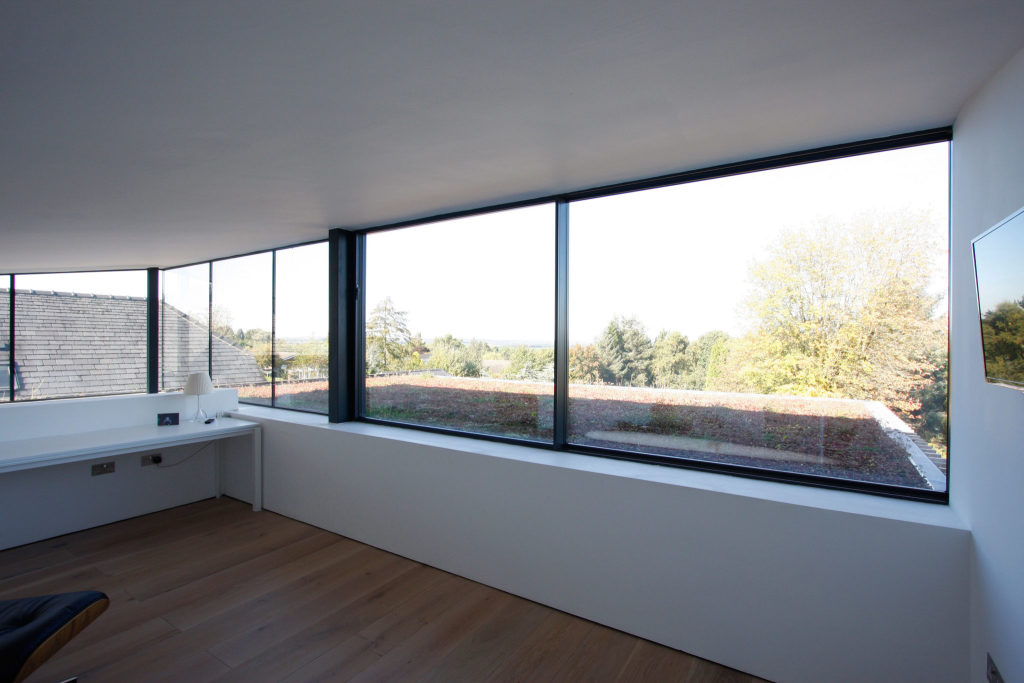 internal view of Sliding Glass Windows used in Edge Hill project
