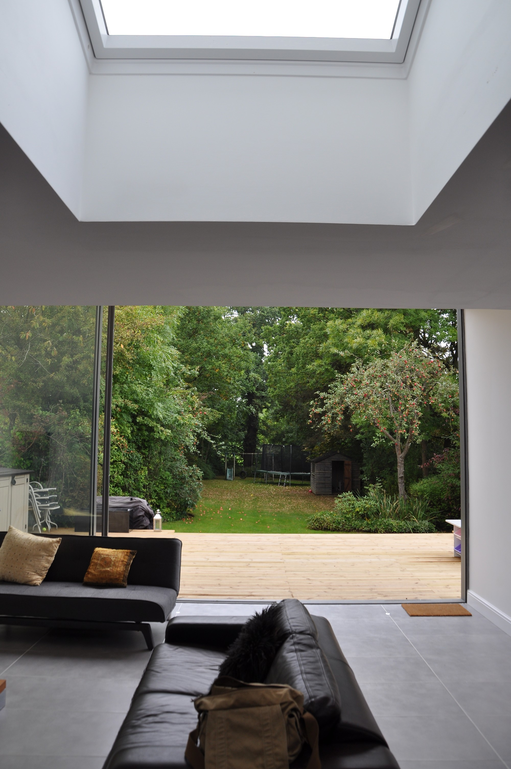 Plenty of natural light entering the contemporary extension