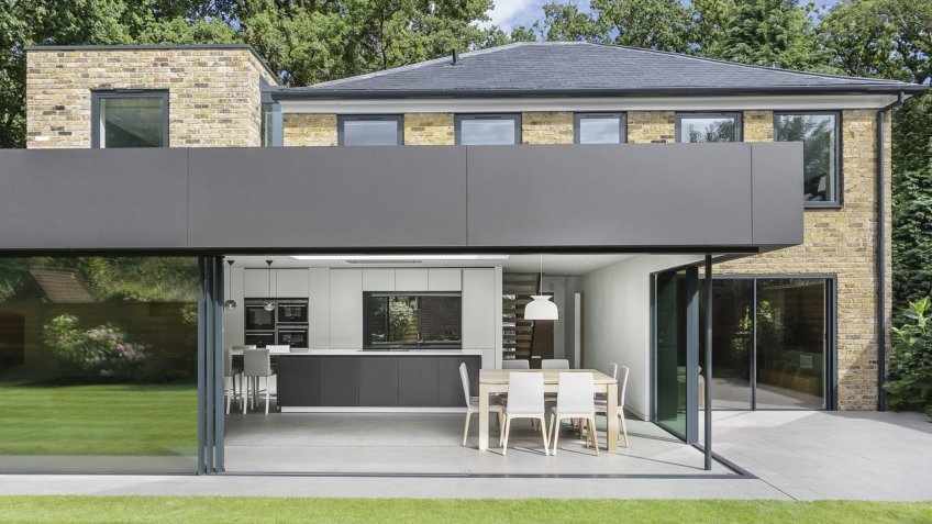 Modern extension makes way for new open plan living spaces seamlessly connecting to the garden