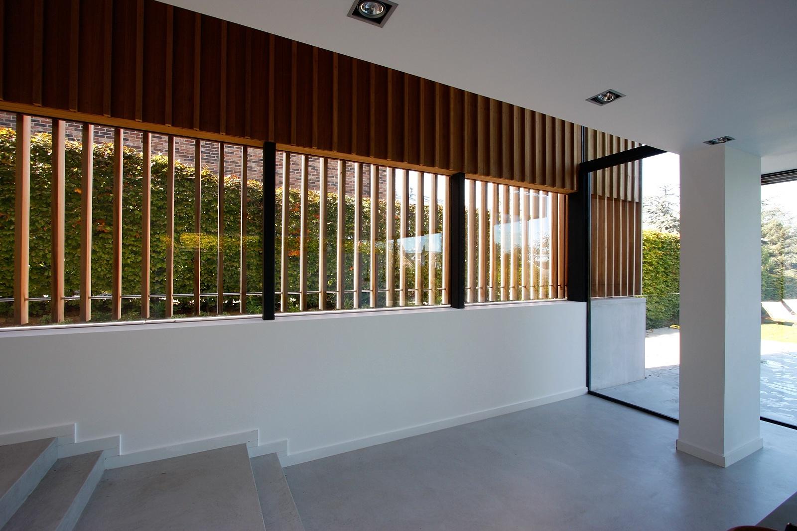 keller minimal pivoting window in new build house