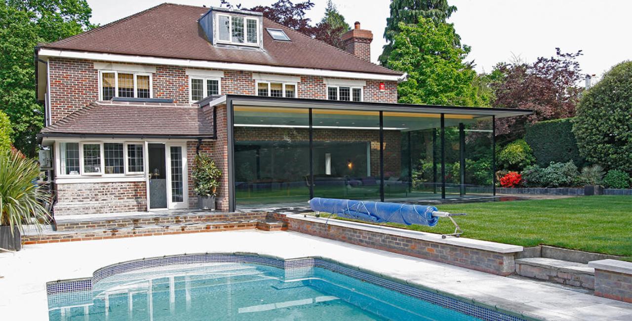 Totteridge Extension with minimal windows sliding doors (5)