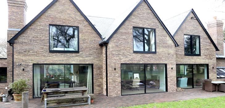 the house in the woods slim frame sliding glass doors