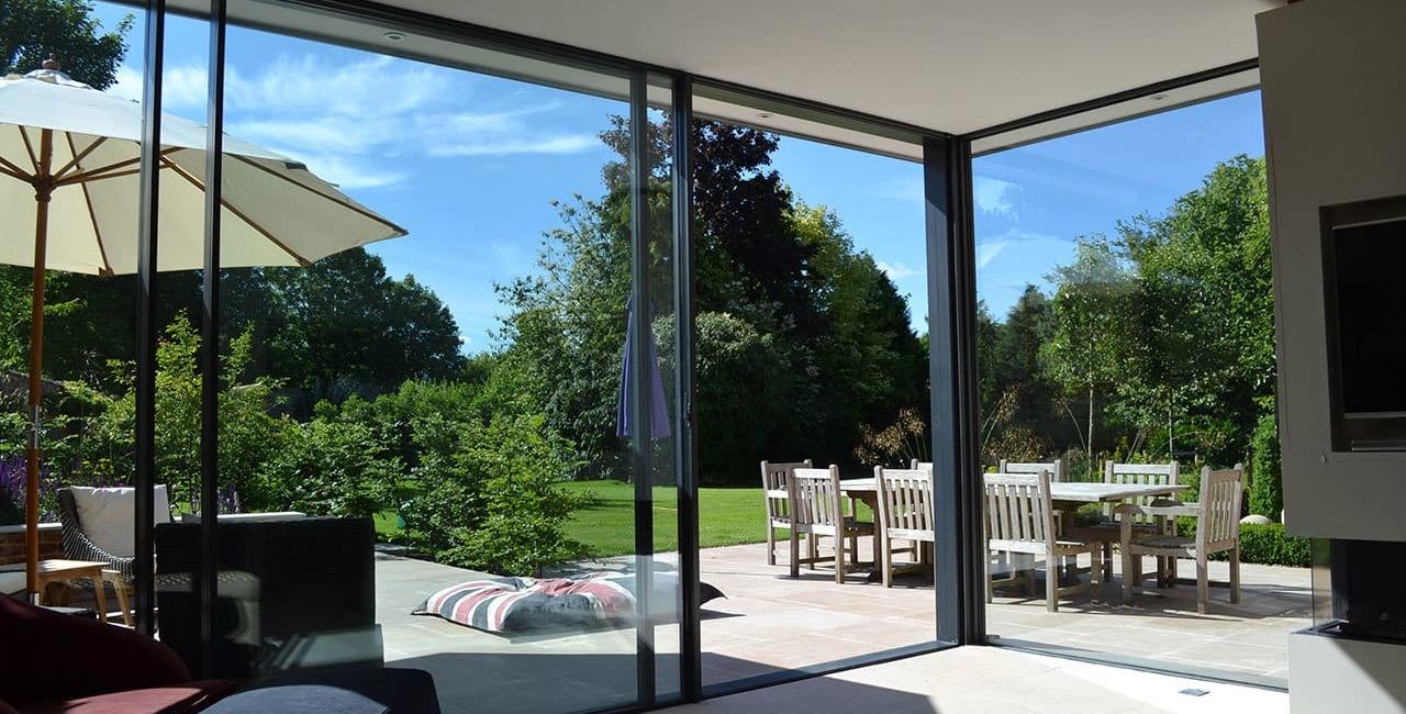 Slimline Sliding Glass Doors Wiltshire Garden Room