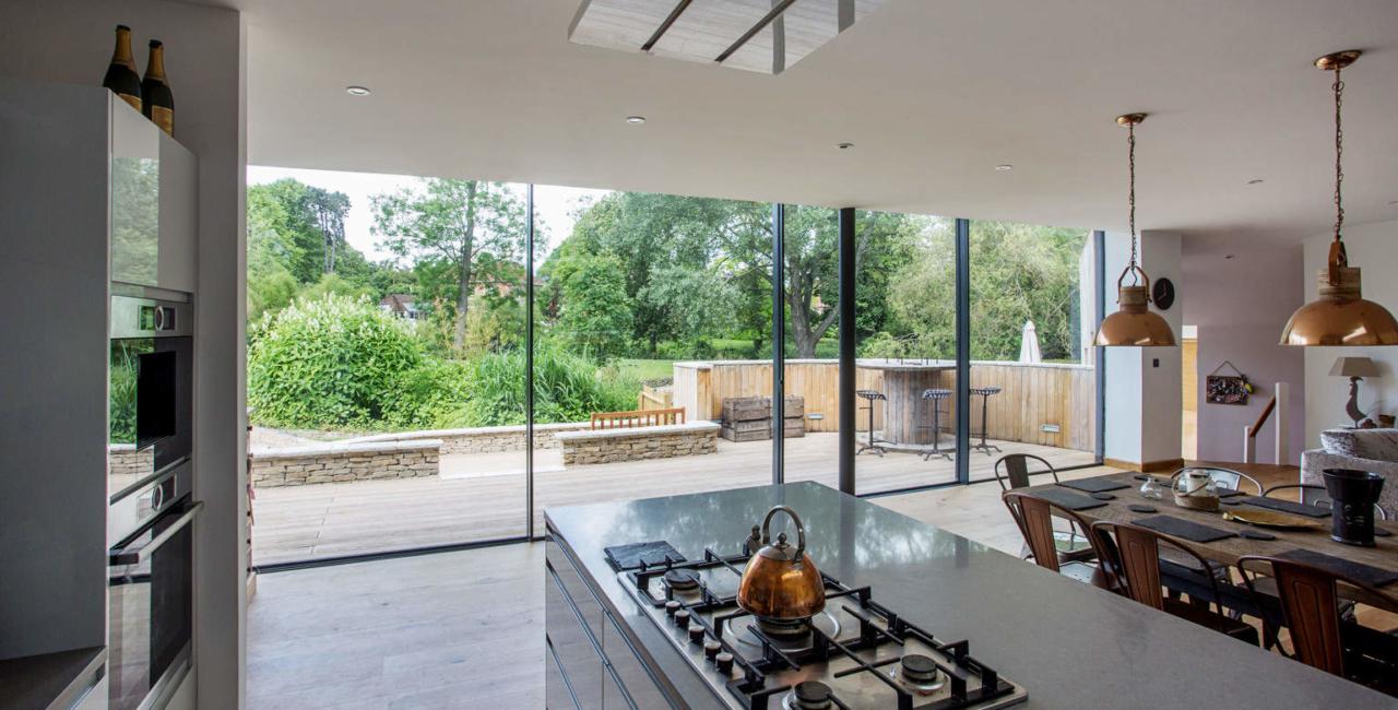 A House in the Garden - glass sliding doors (3)