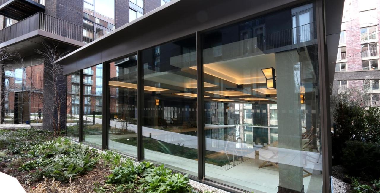 Embassy Gardens Sliding Glass Doors