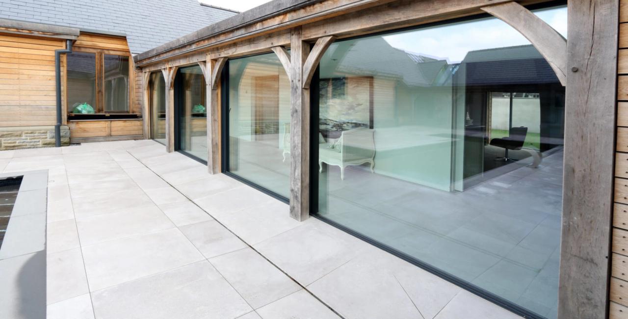 slim framed glass doors