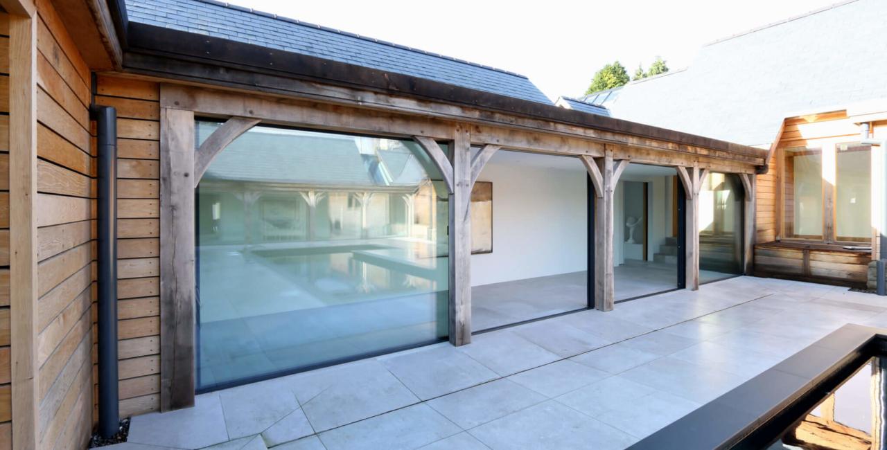 ultra thin framed glass doors