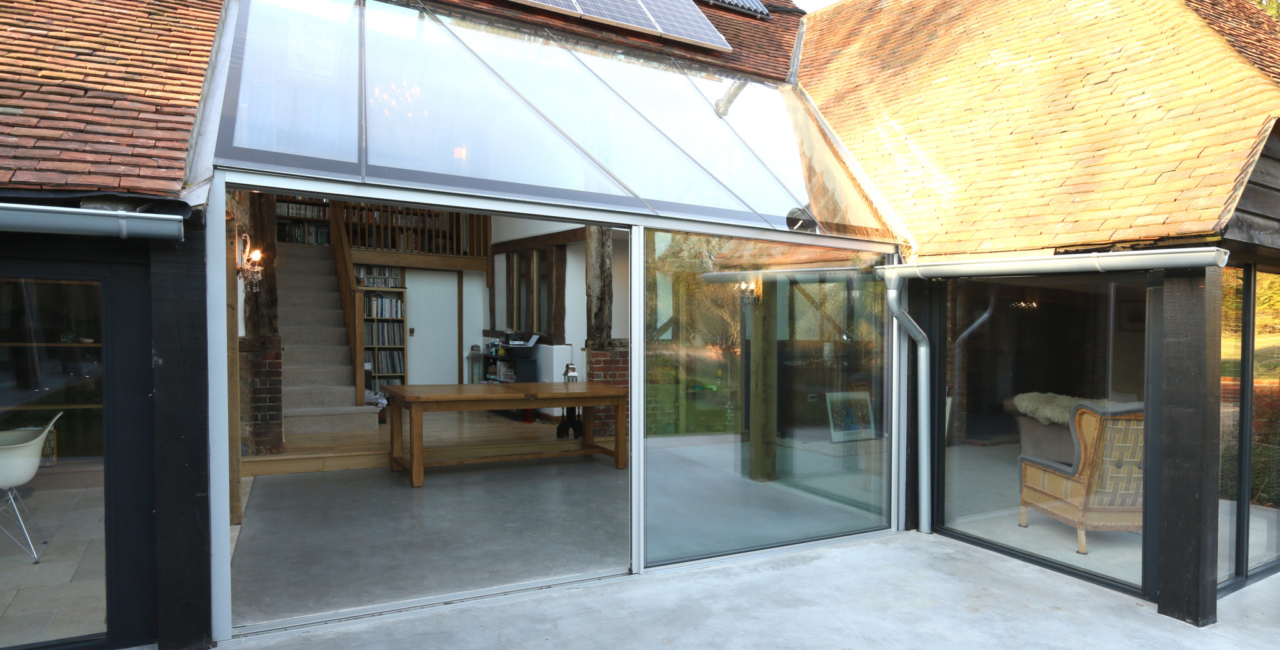 minimal windows barn conversion