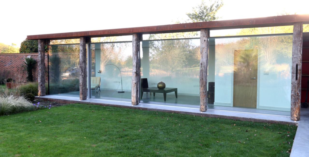 minimally framed sliding glass doors brook barn