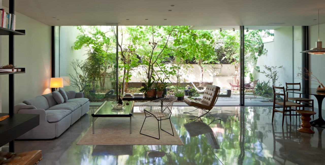 House of Nature - slim framed sliding glass doors