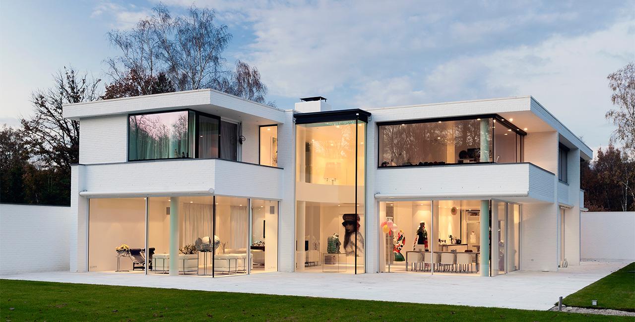 Contemporary Glass Doors minimal windows