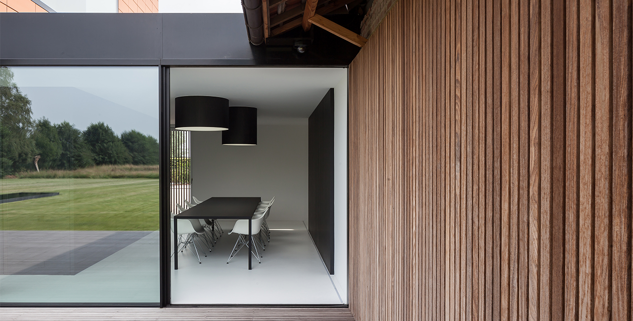 a Bright Home with Slim Framed Glass Sliding Doors