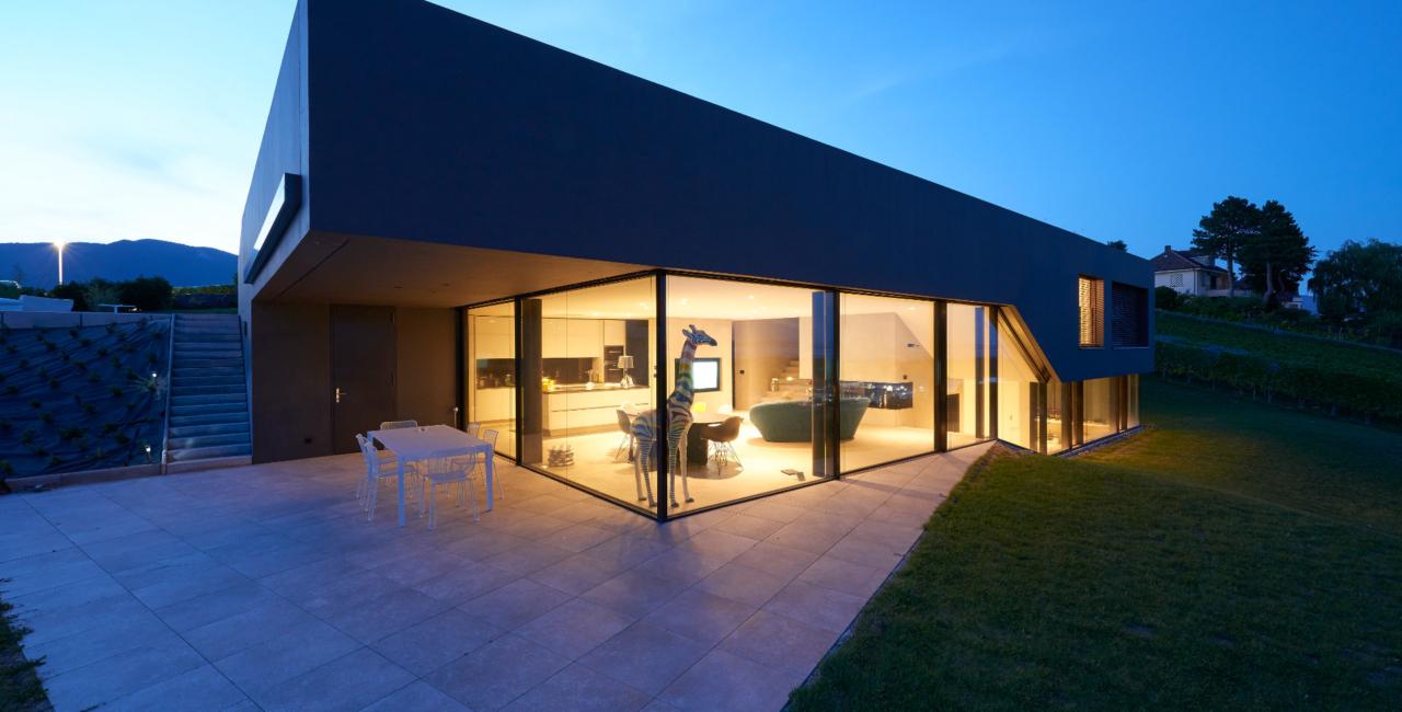 keller minimal windows villa cortaillod