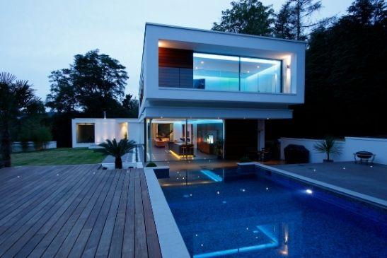 award winning new build luxury home with minimal windows slim sliding glass doors