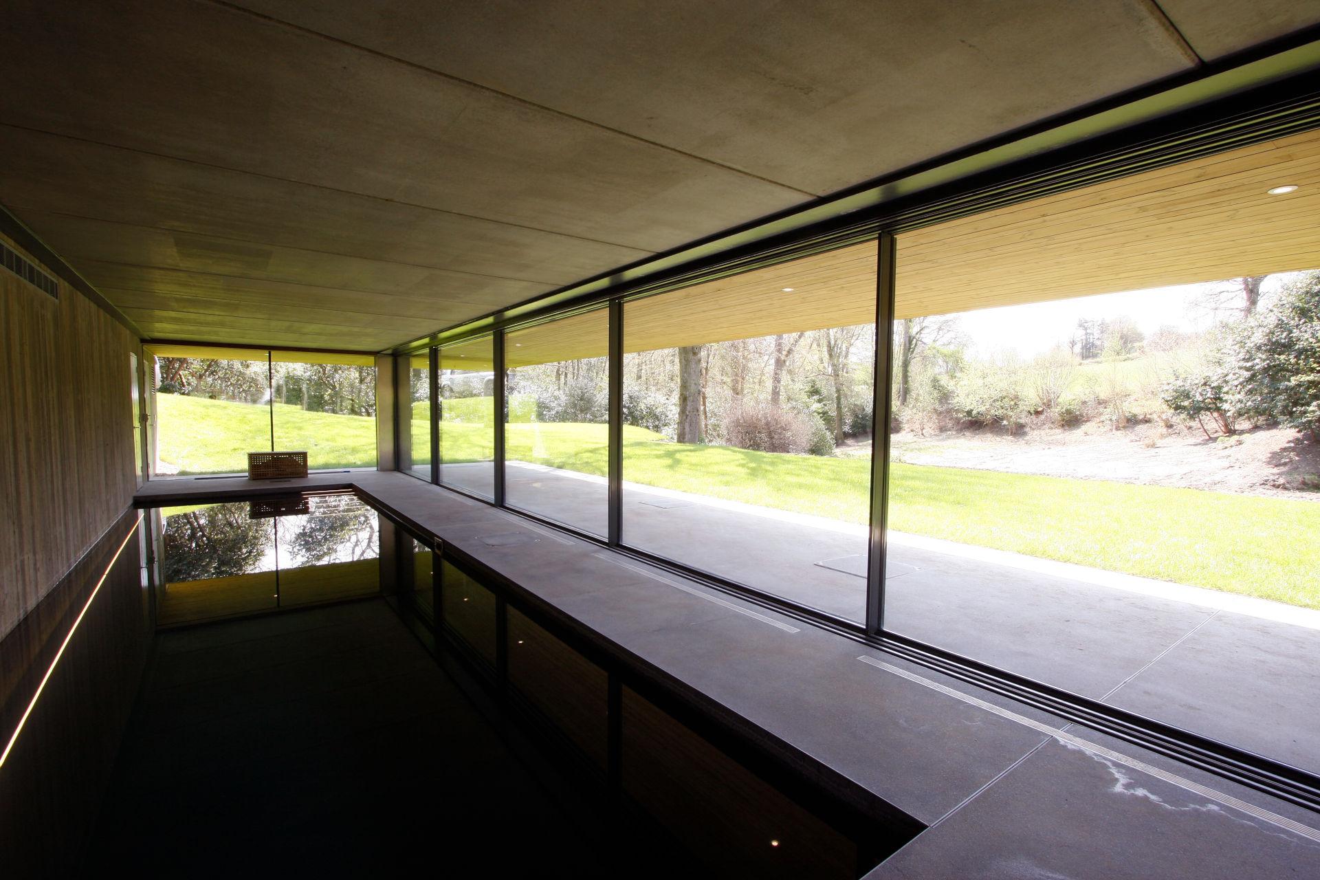 thin framed sliding glass doors