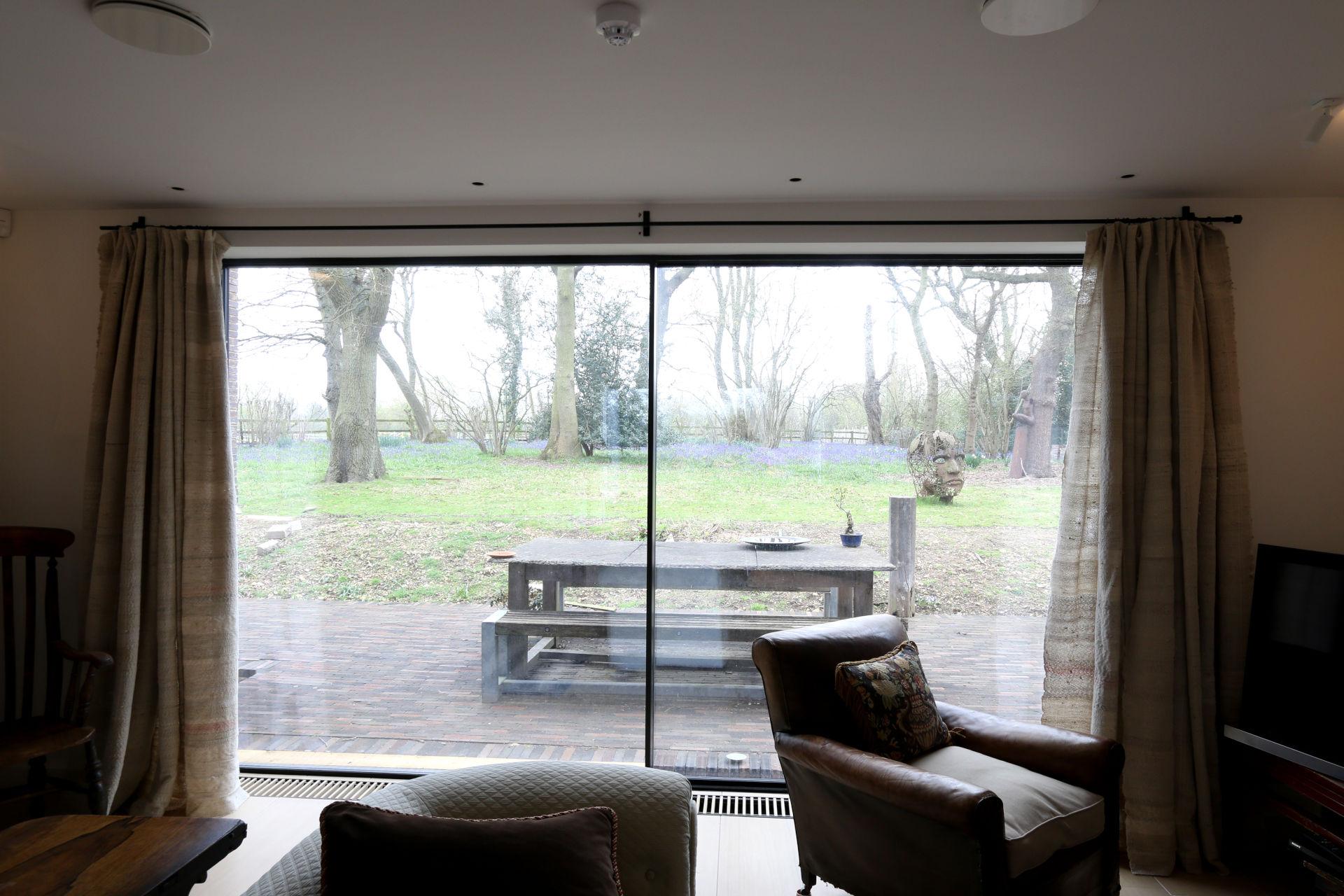 ultra thin framed sliding glass doors