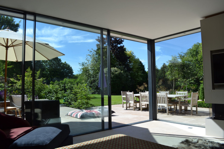 glazed garden room to a listed property