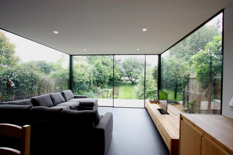 minimal windows rear glazed extensions