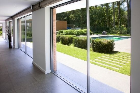 two pane minimal windows slim sliding door systems
