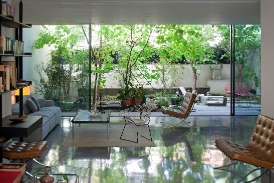 minimal windows high end sliding glass doors connecting the interior design with nature