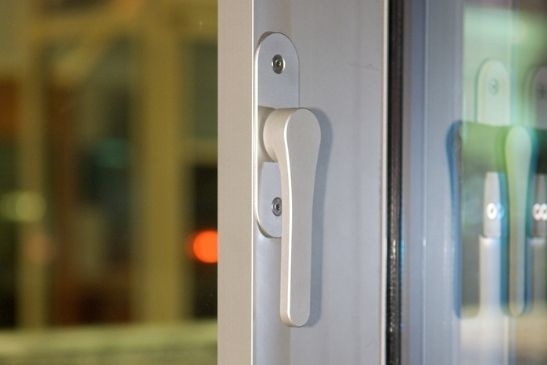 minimal windows silver anodised handle for a slim sliding glass door