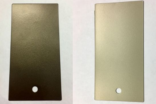 two examples of anodised aluminium which created a chrome frame look for minimal windows glazing systems