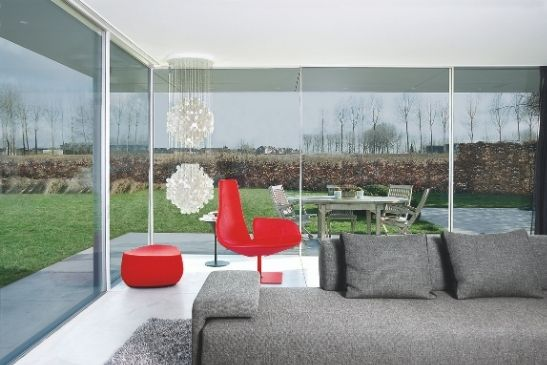 contemporary home extension with glass to glass corner and minimal window slim sliding door systems