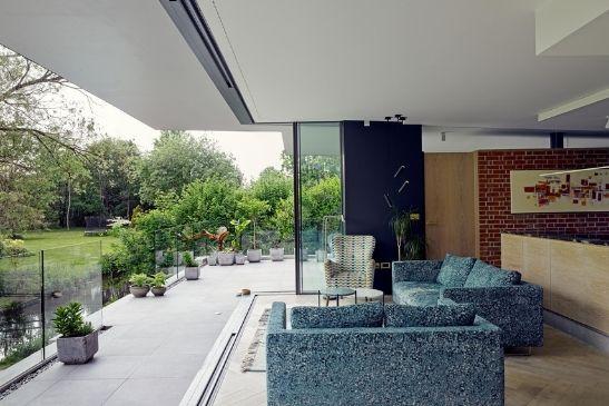 corner opening aluminium framed sliding doors from minimal windows