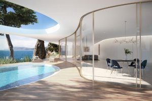 curved sliding glass door from minimal windows - luxury sliding doors with curved glass